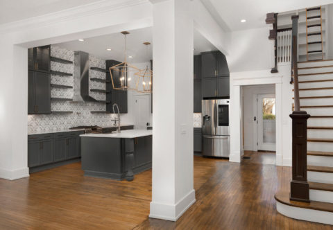 After image of a kitchen and staircase by MT Building Group in Murfreesboro