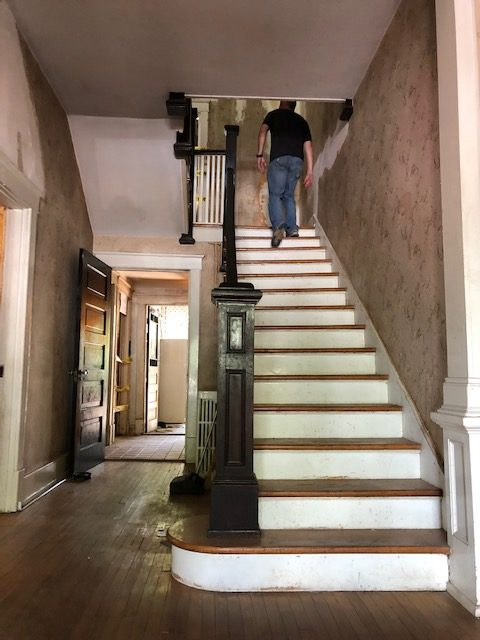 Before image of a staircase by MT Building Group in Murfreesboro