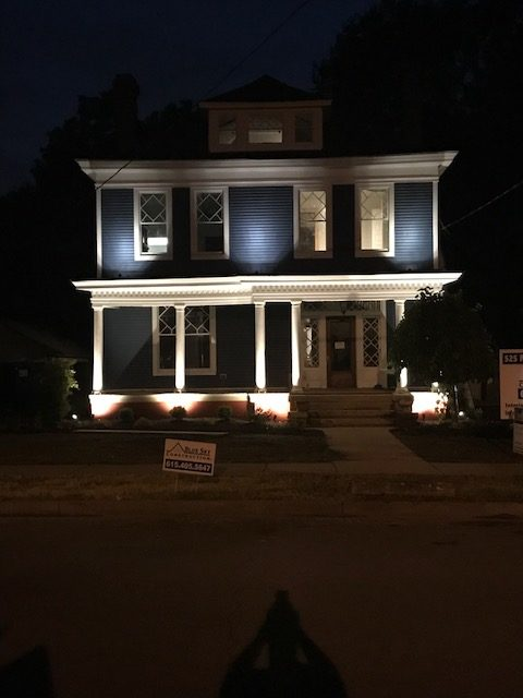 After image of a house at night by MT Building Group in Murfreesboro